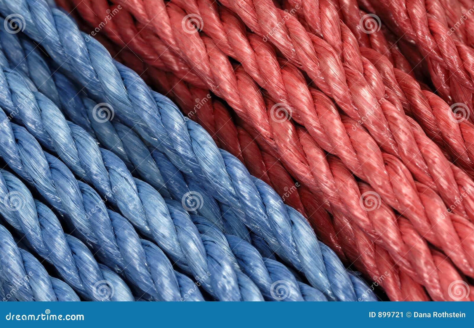 Niebieska czerwona liny
