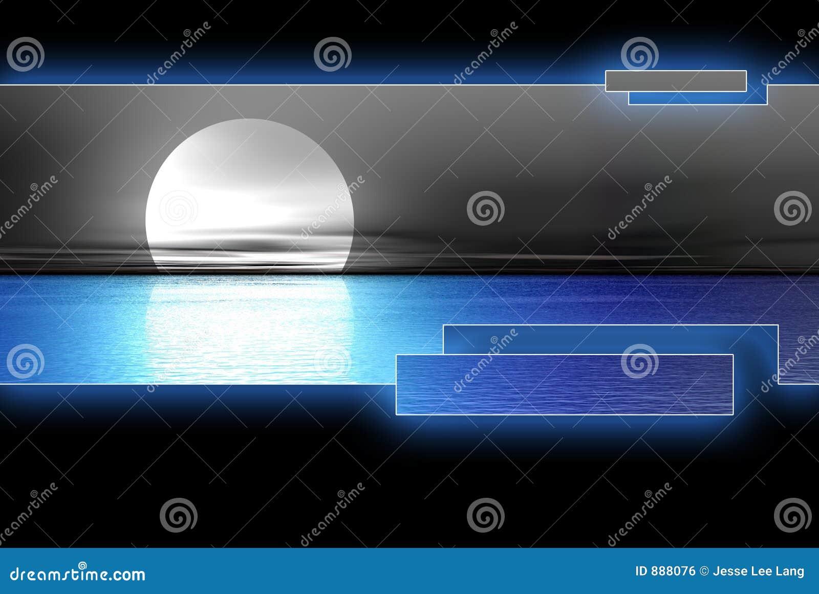 Niebieska logoset księżyc wody