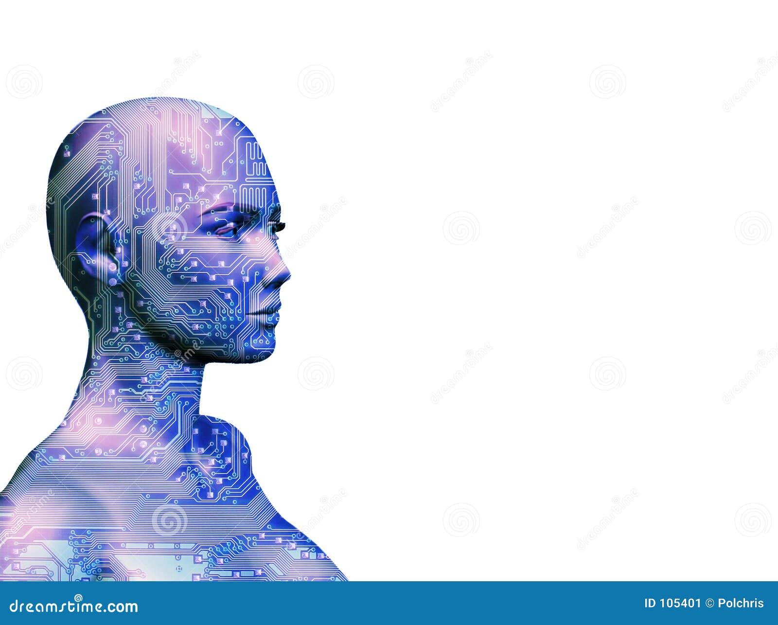 Niebieska ludzkiej maszyna