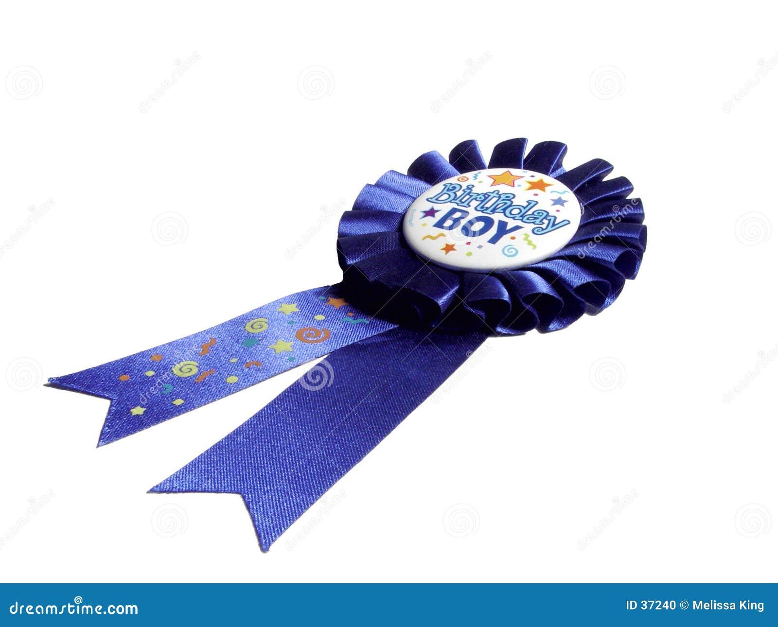 Niebieska wstążka urodzinowy