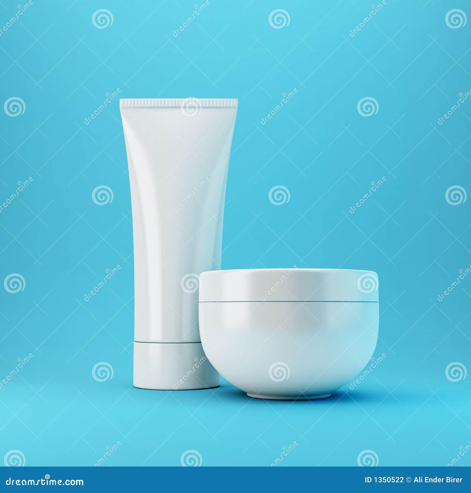 Niebieski 2 produktu kosmetycznego