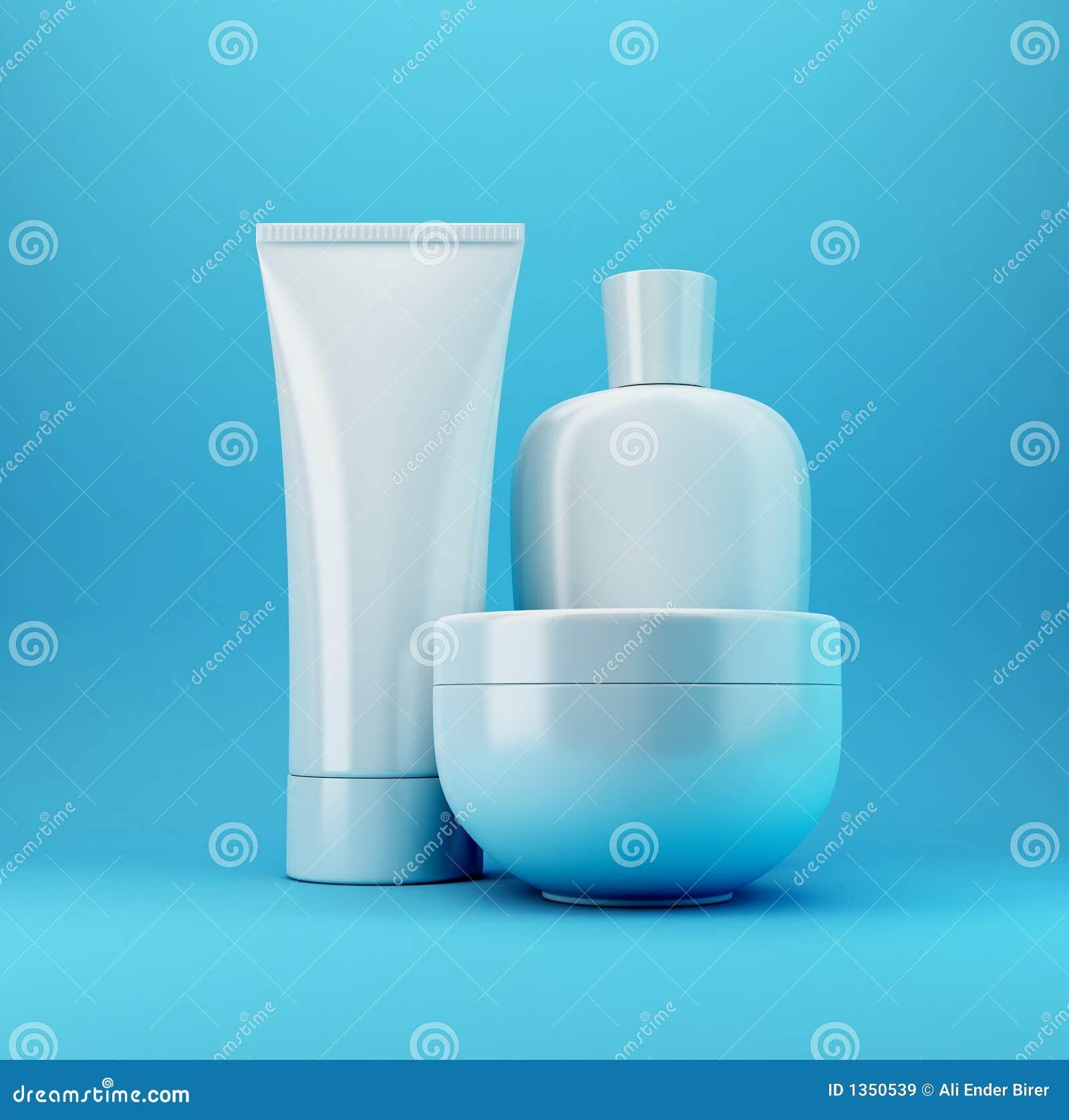 Niebieski 3 produktu kosmetycznego
