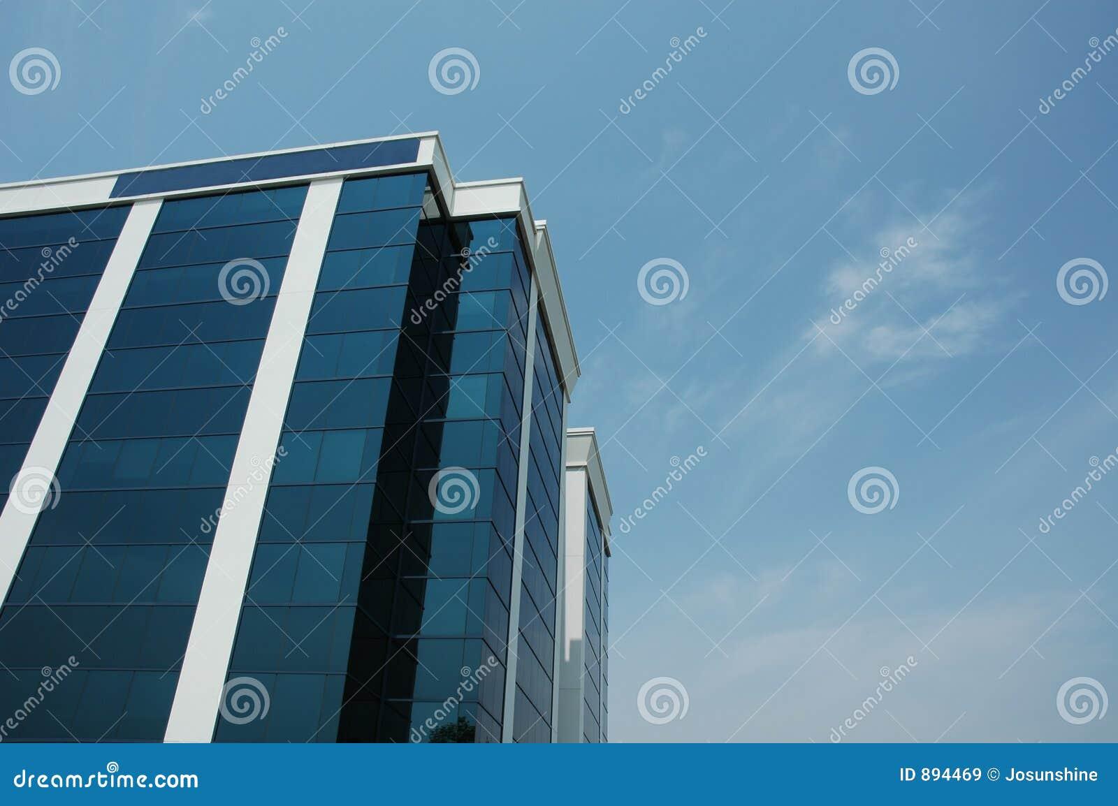 Niebieski budynku biura