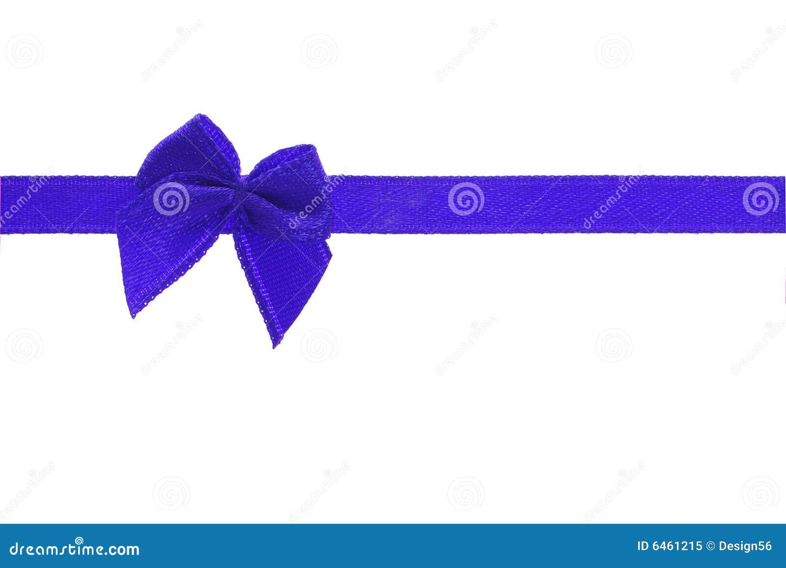 Niebieski dziobu wstążkę dekoracyjny