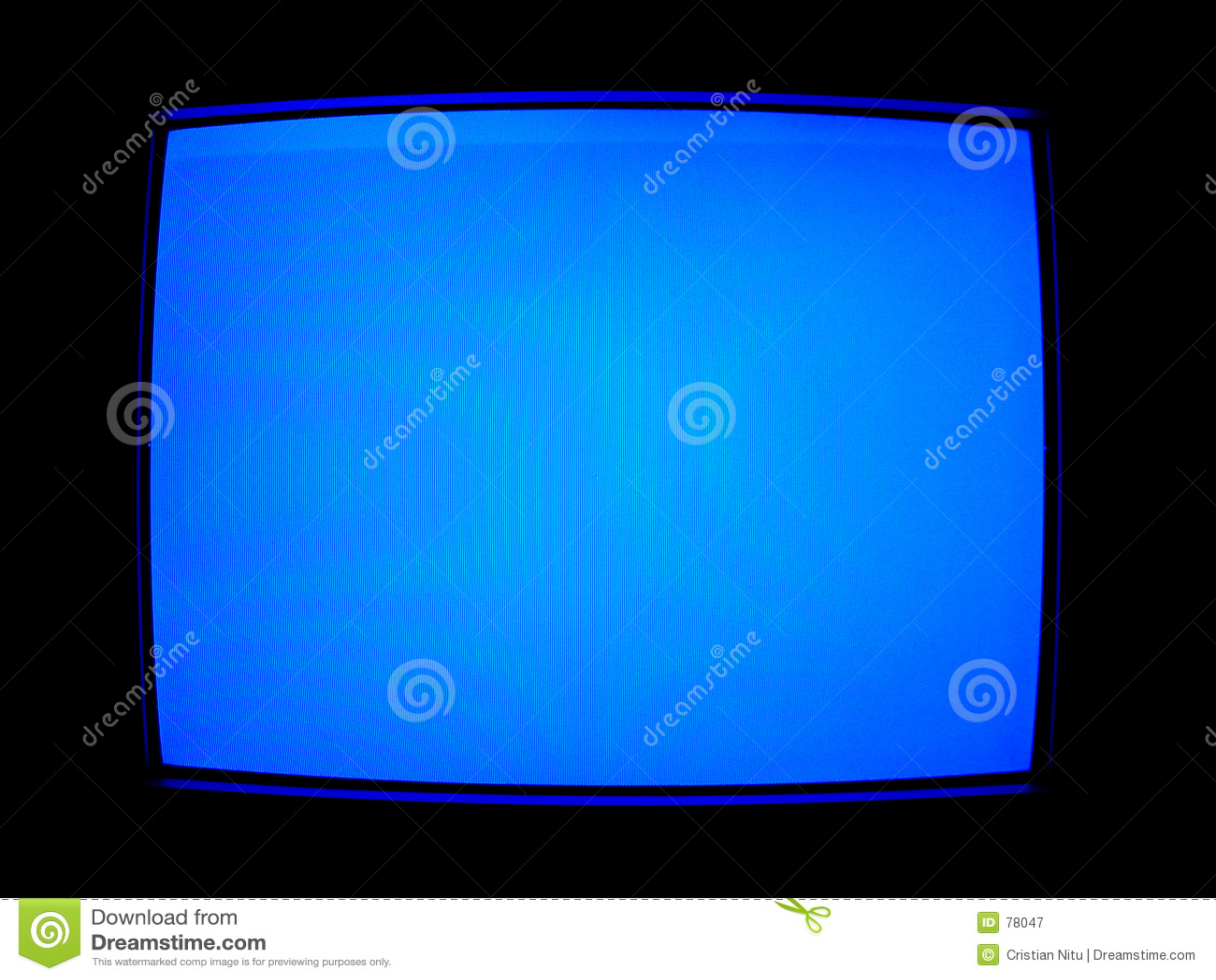 Niebieski ekran tv