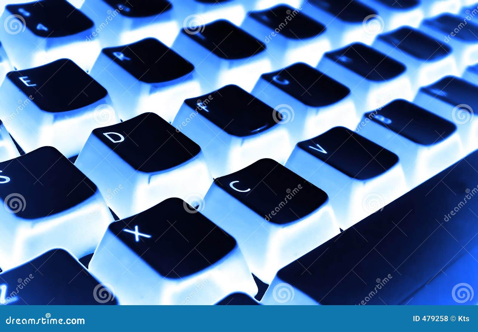 Niebieski filtra klawiatura