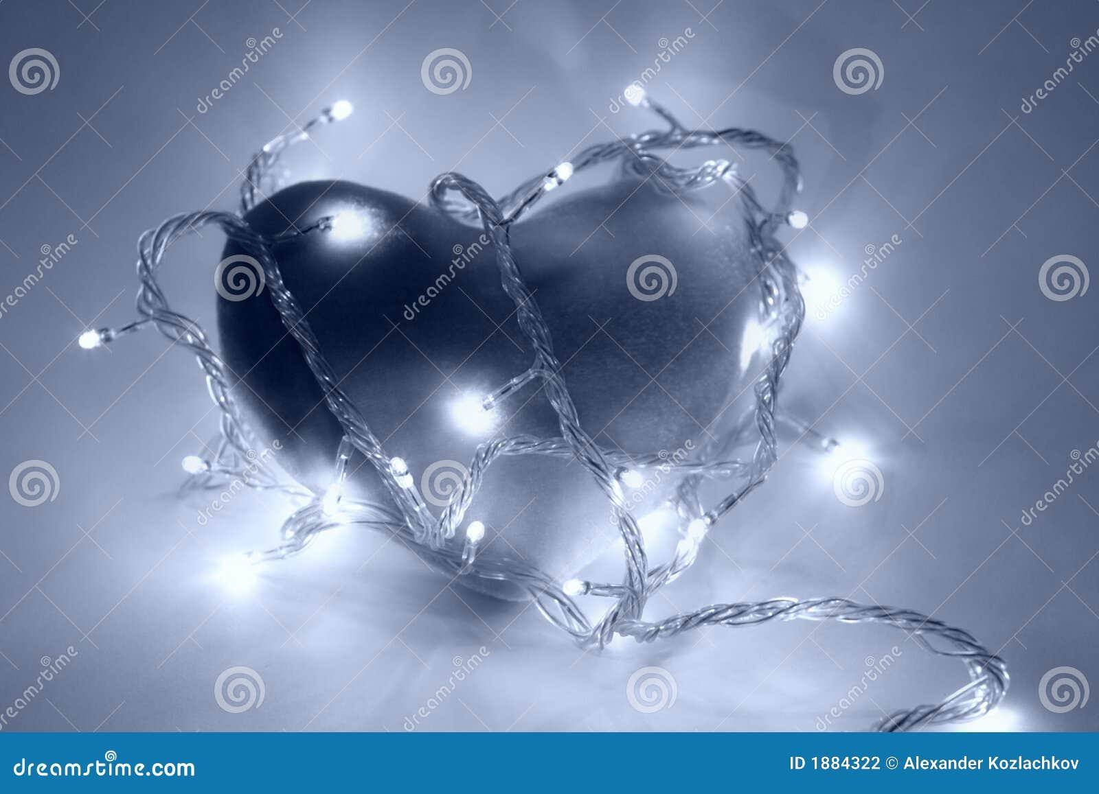 Niebieski filtracyjnej serce