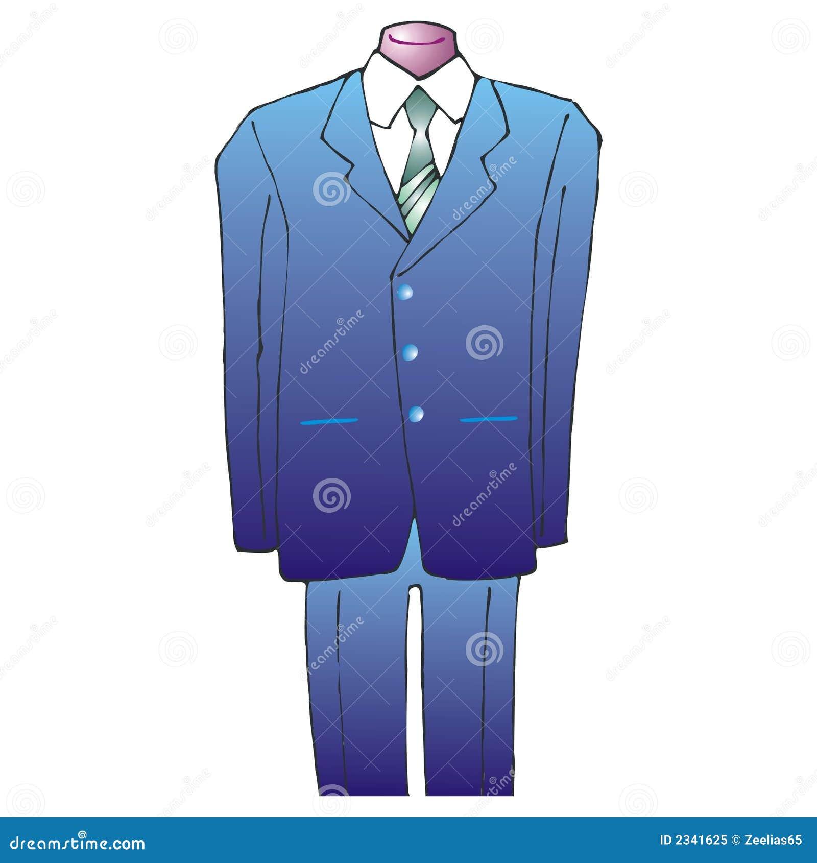 c9d90c430ef Niebieski garnitur krawat ilustracja wektor. Ilustracja złożonej z ...