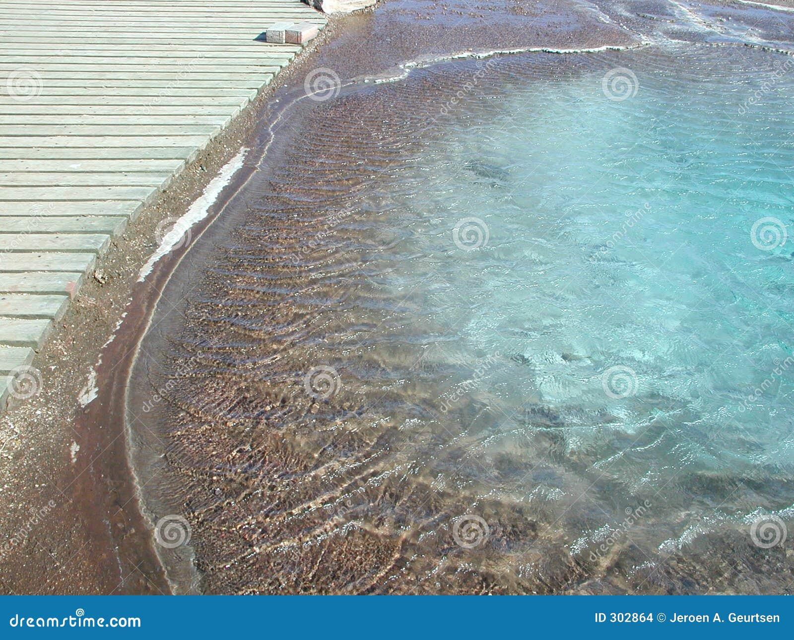 Niebieski geysir basenu