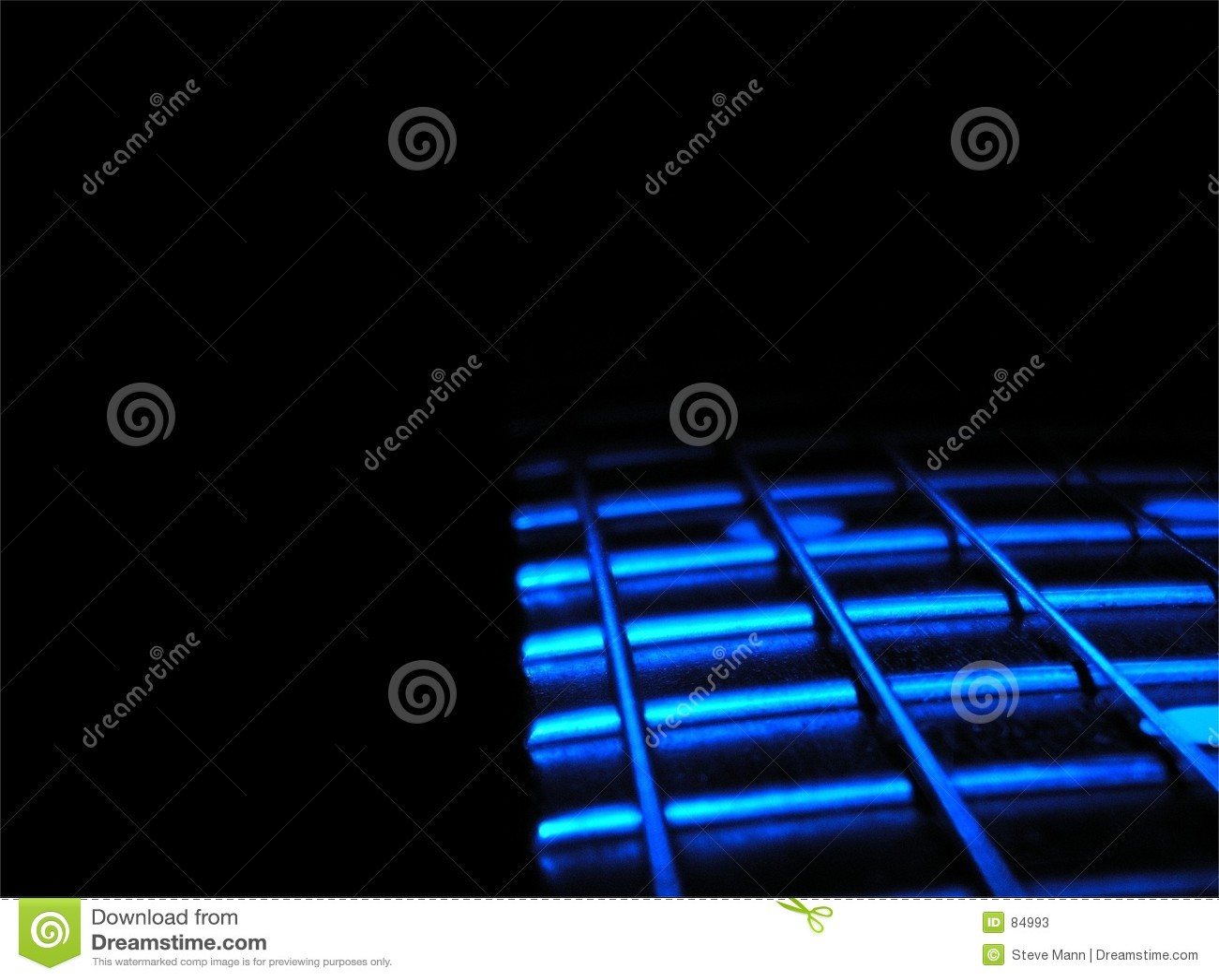 Niebieski gitara
