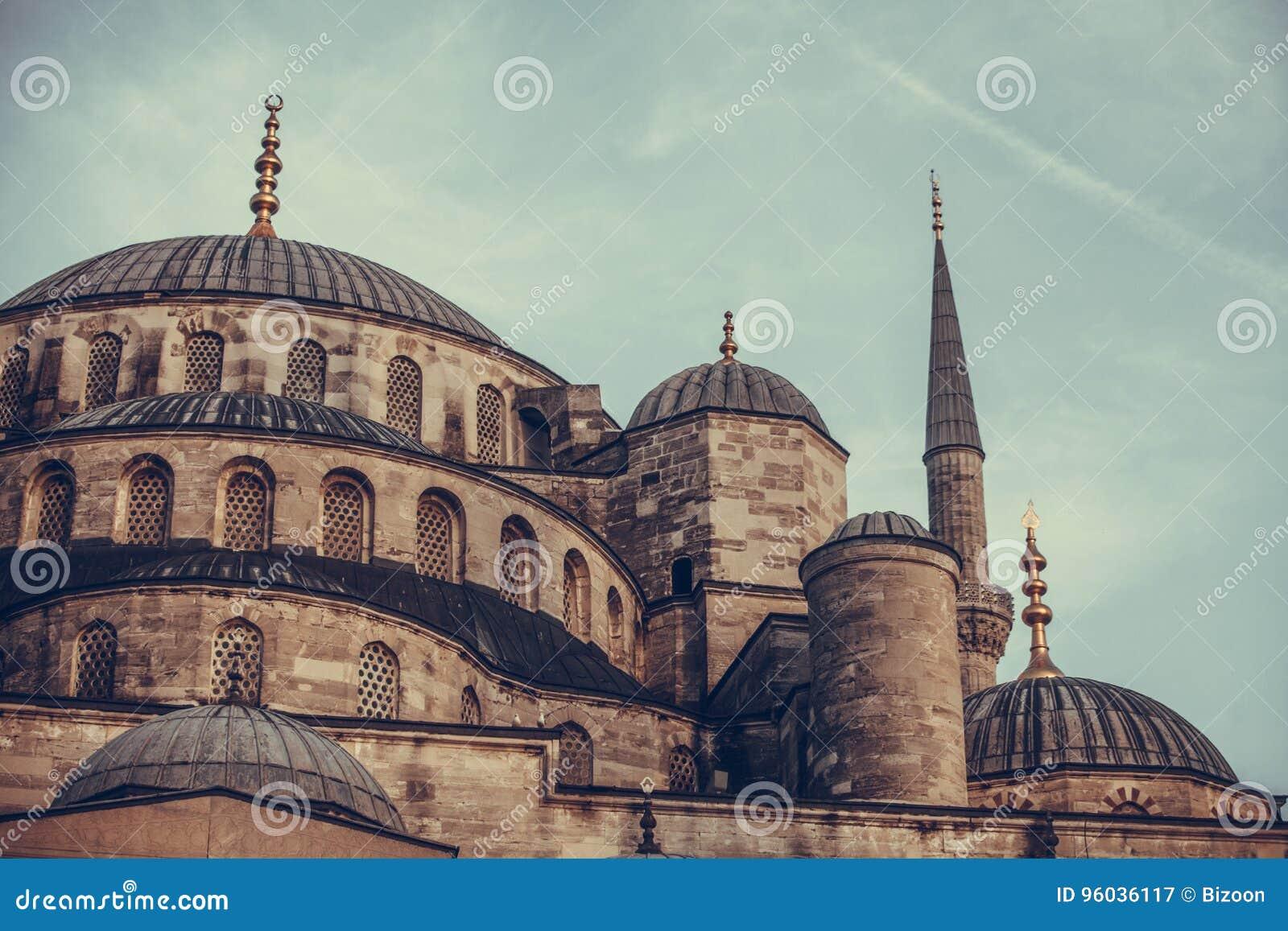 Niebieski Istanbul indyk meczetu
