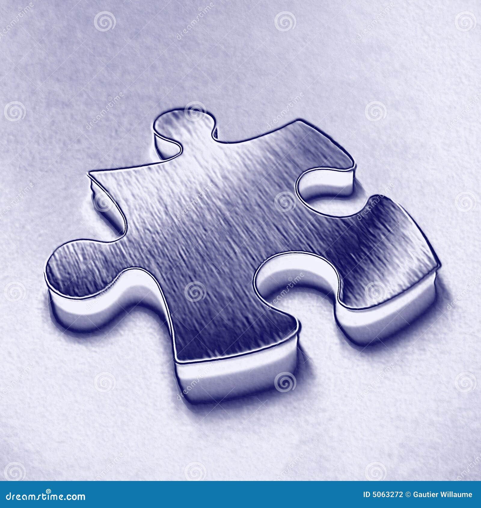 Niebieski jigsaw kawałek
