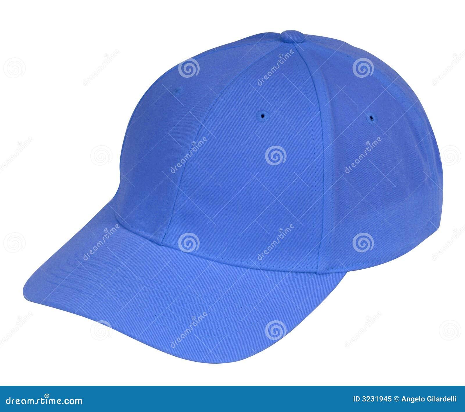 Niebieski kapelusz.