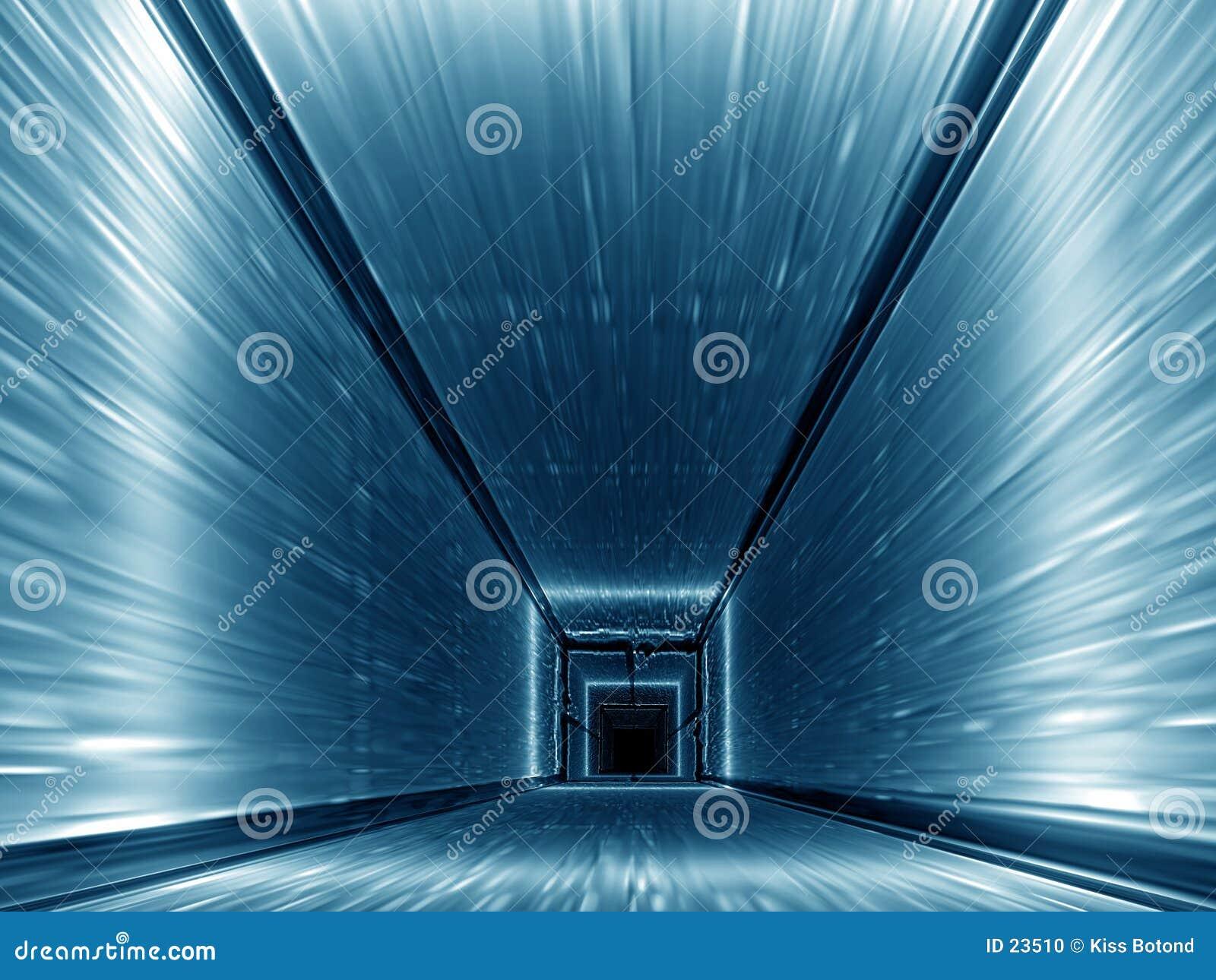 Niebieski korytarza