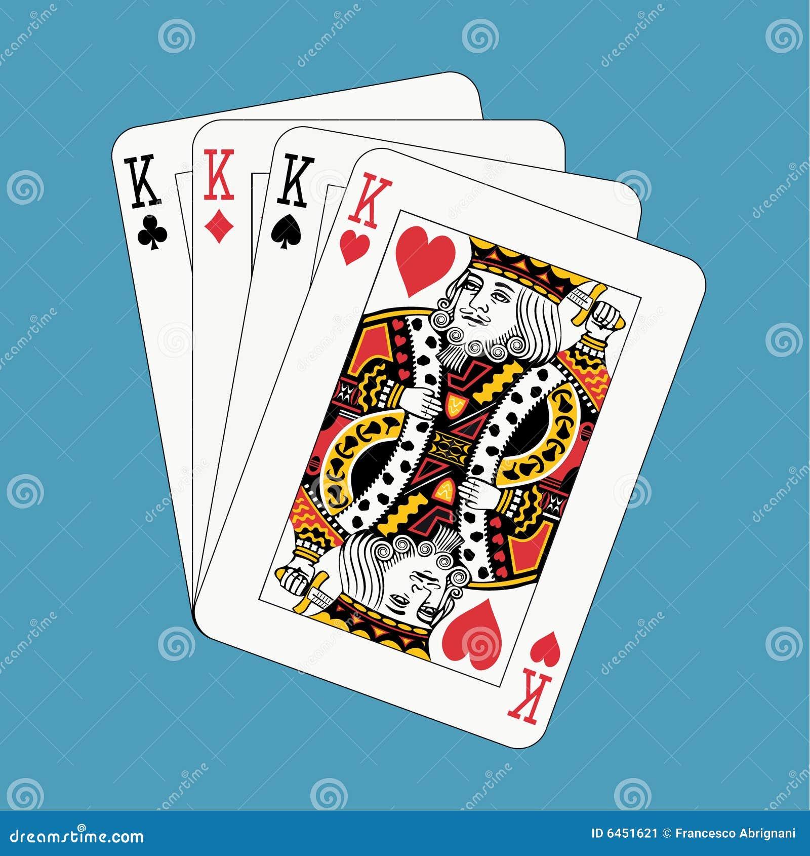 Niebieski król pokera.