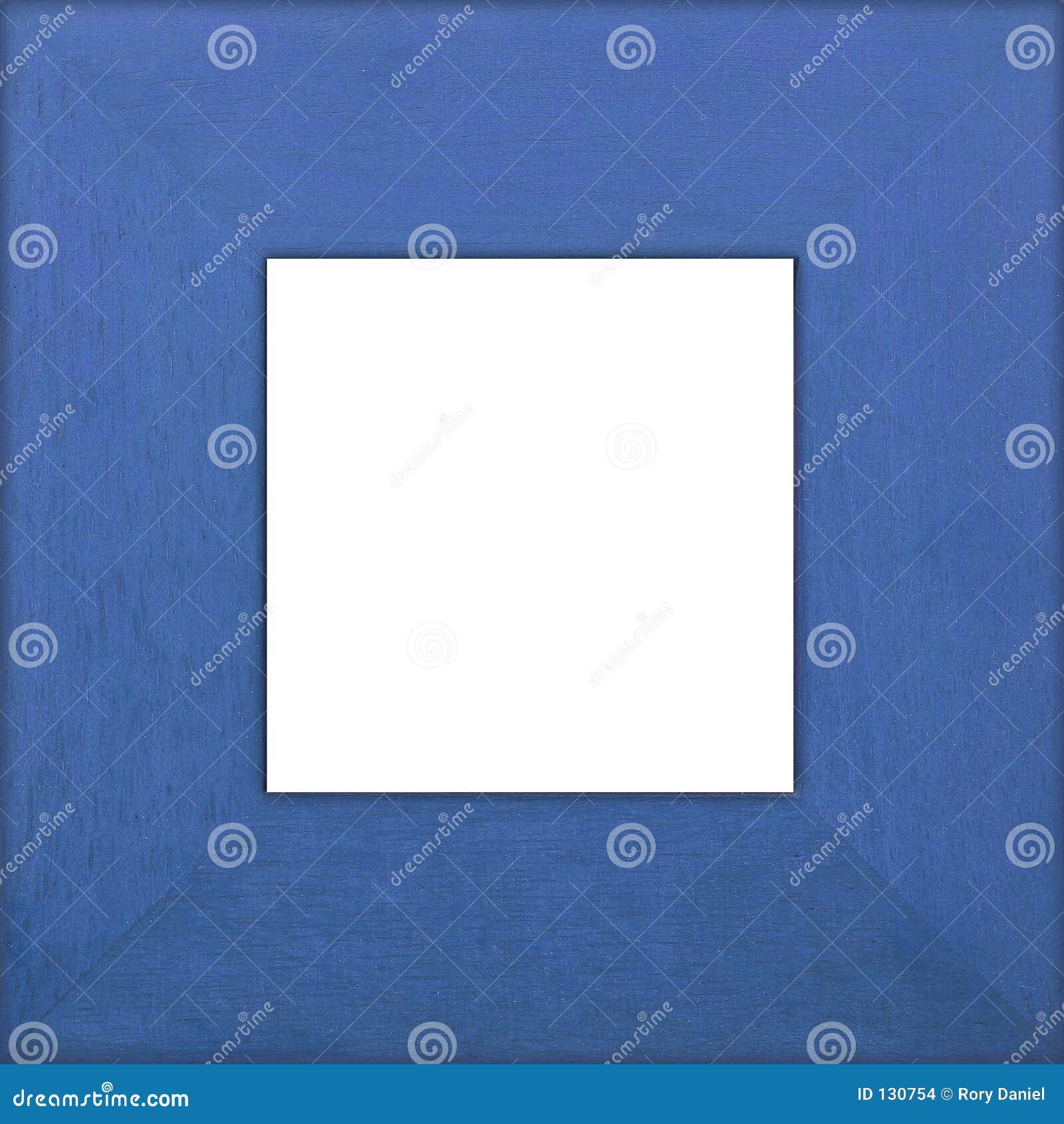 Niebieski kwadrat ramy