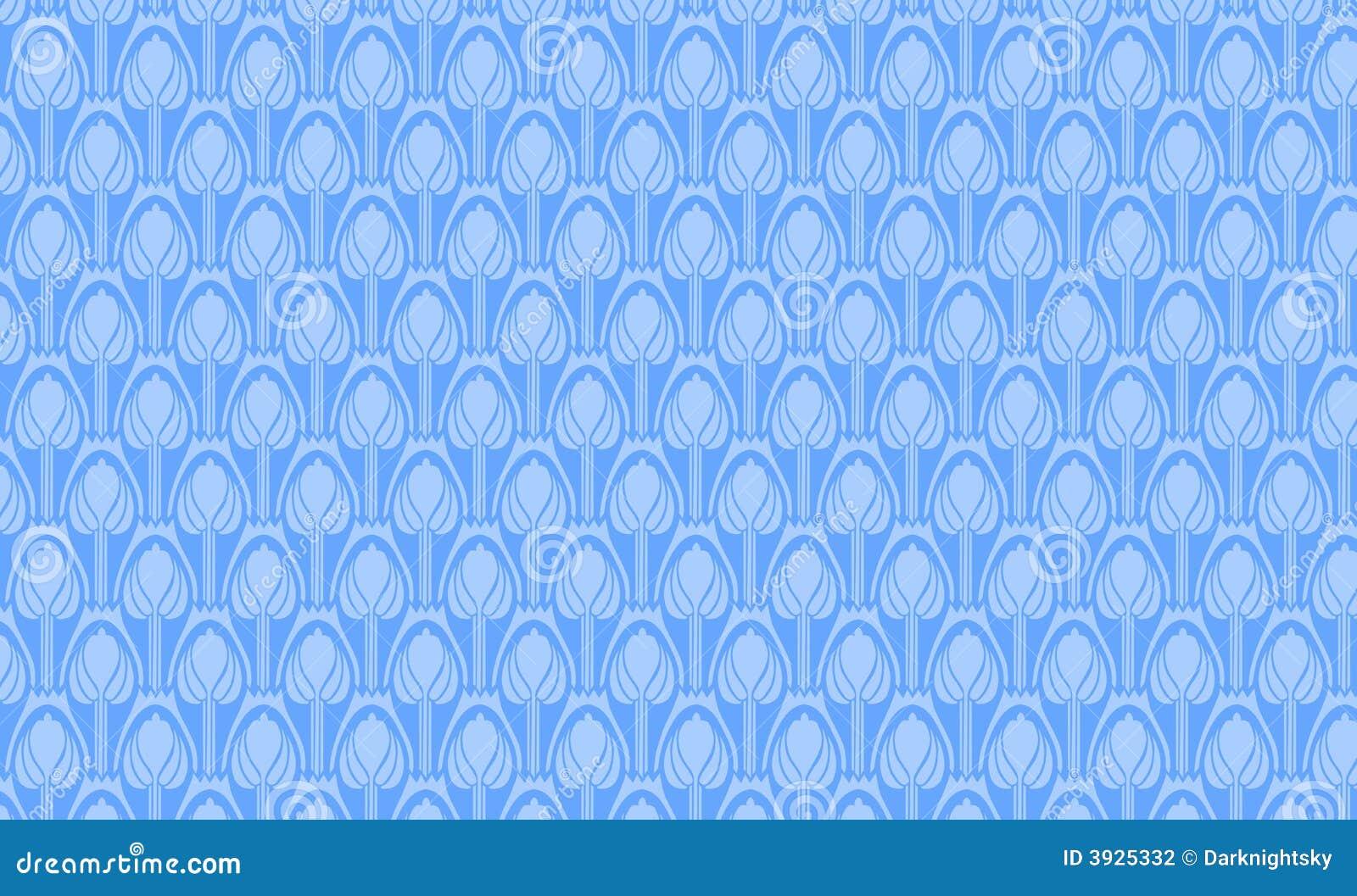 Niebieski ornament