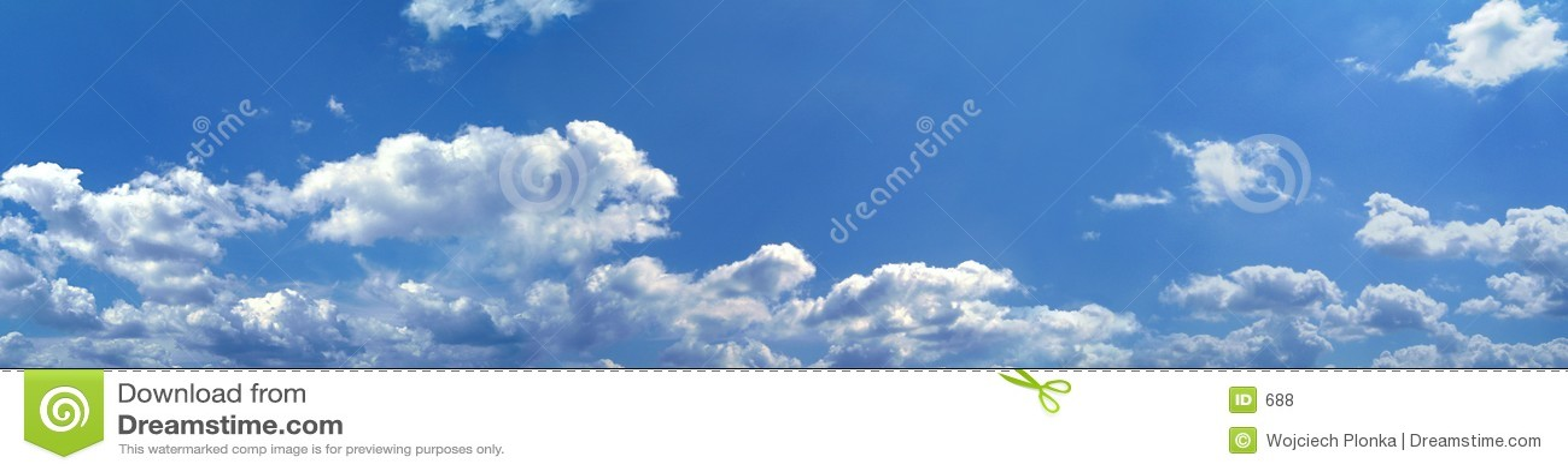 Niebieski panorama niebios