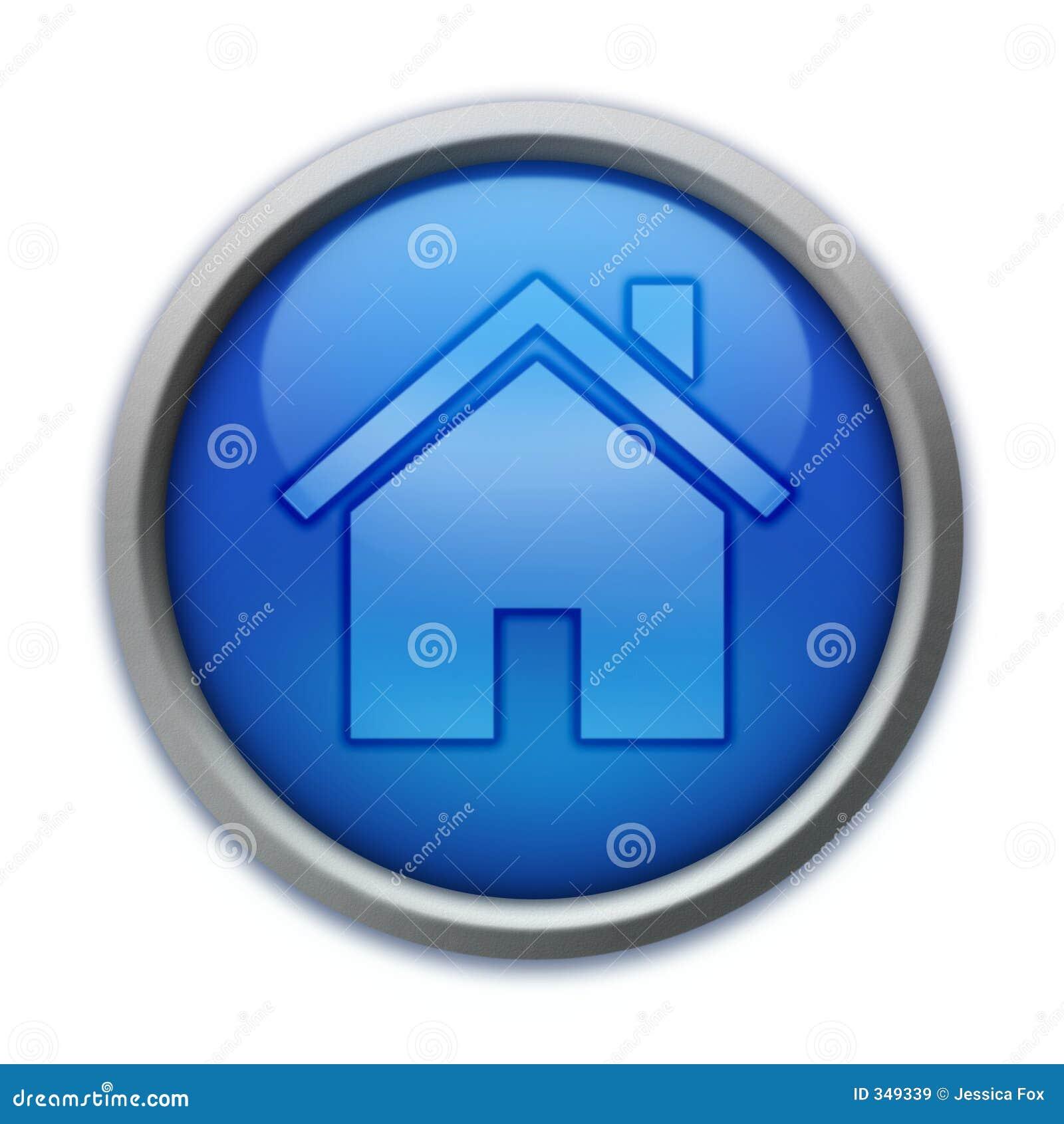 Niebieski przycisk do domu