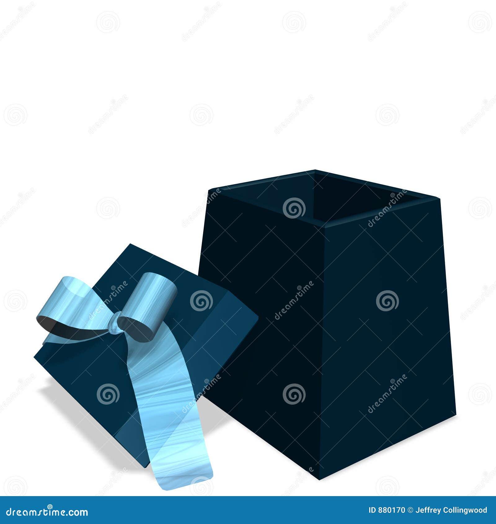 Niebieski pudełka dar otwarte