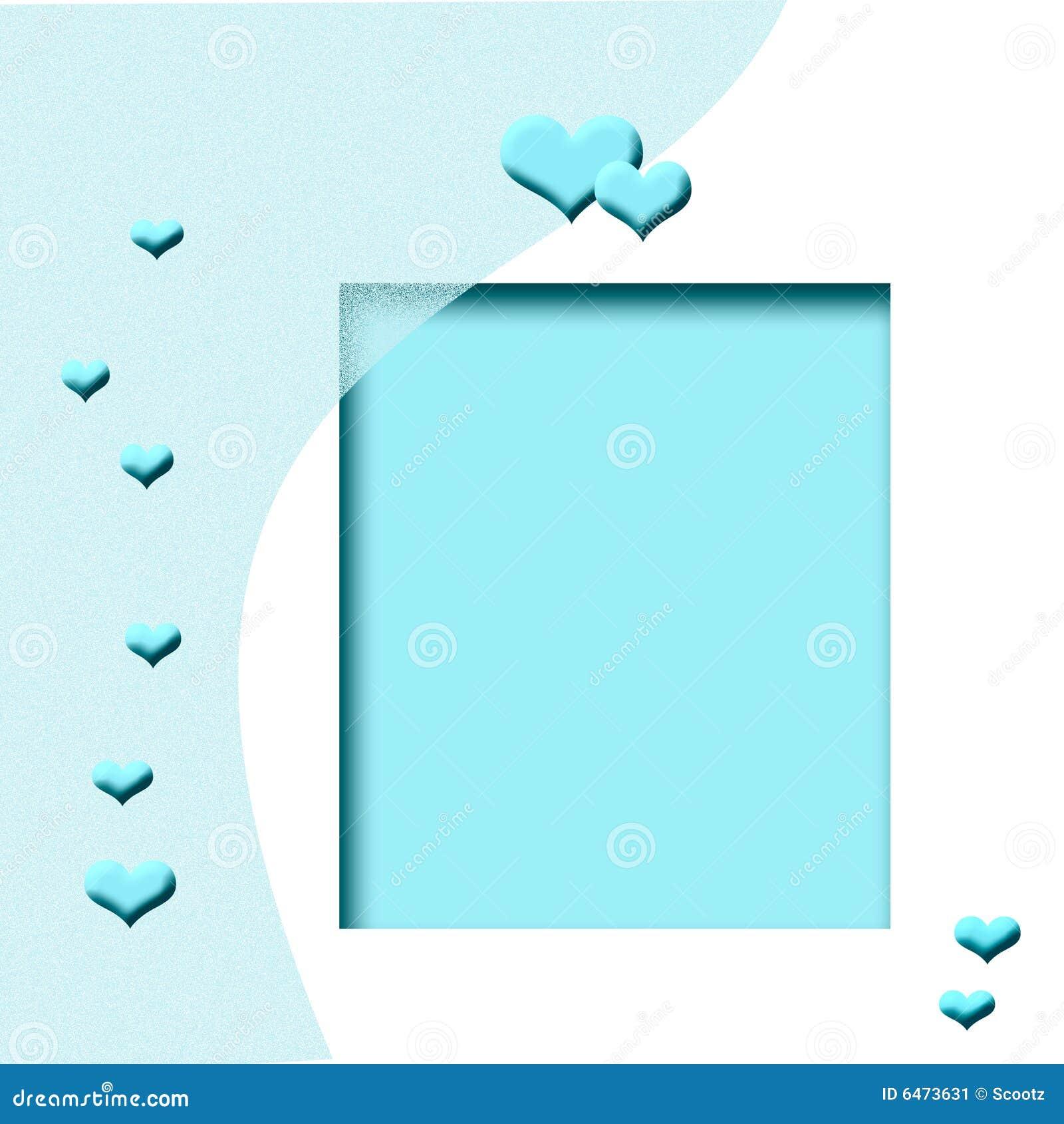 Niebieski ramowy serce