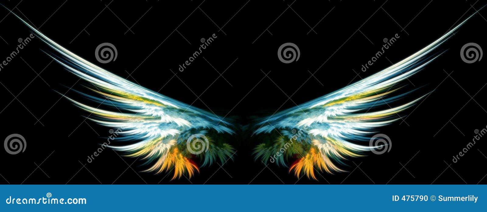 Niebieski skrzydła anioła