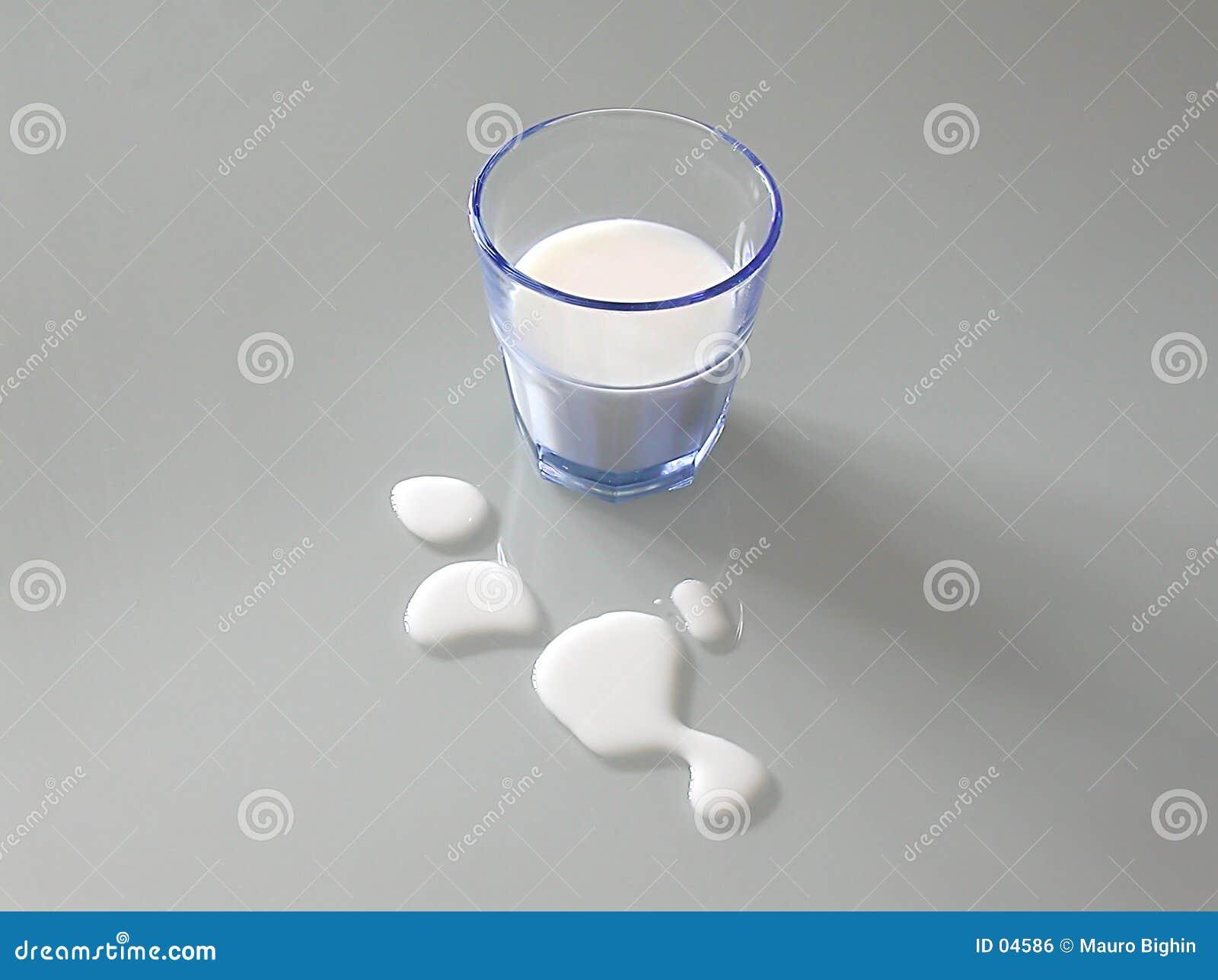 Niebieski szklanki mleka
