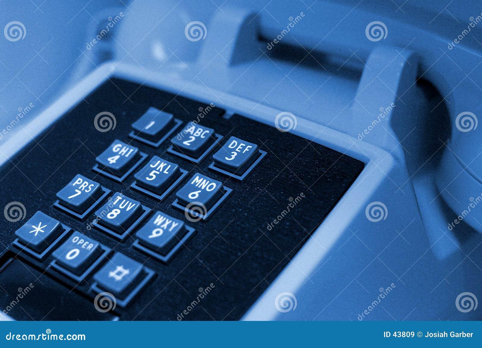 Niebieski telefon