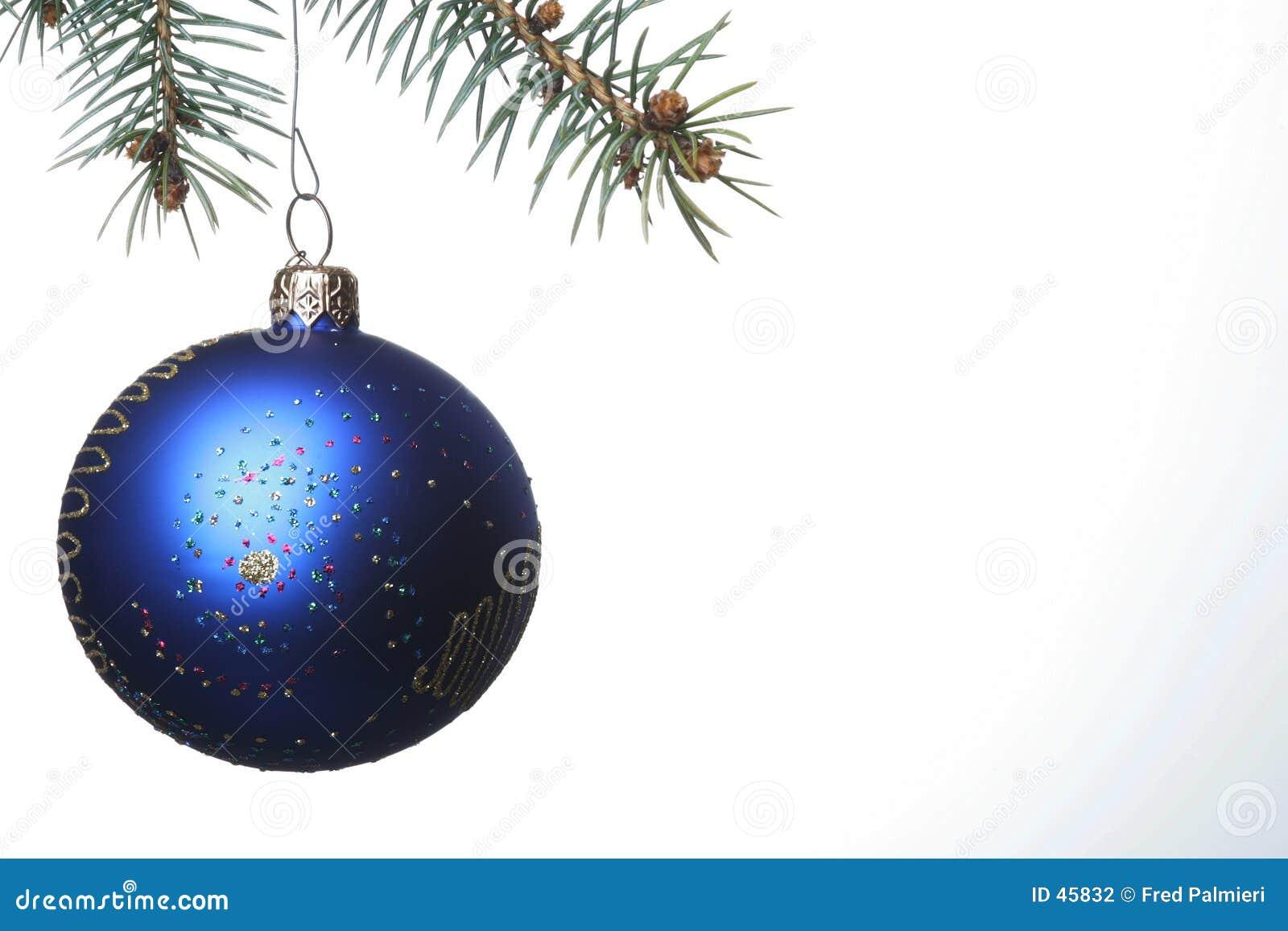 Niebieskie bal Świąt
