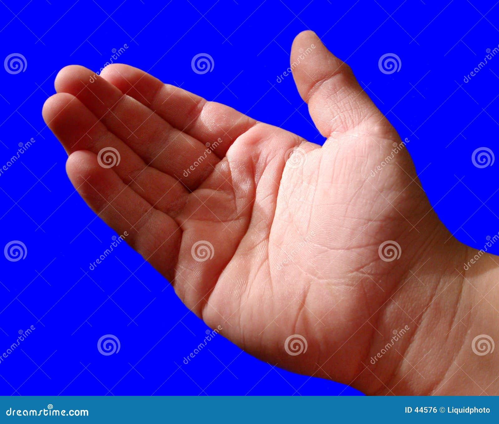 Niebieskie chłopcy ręka