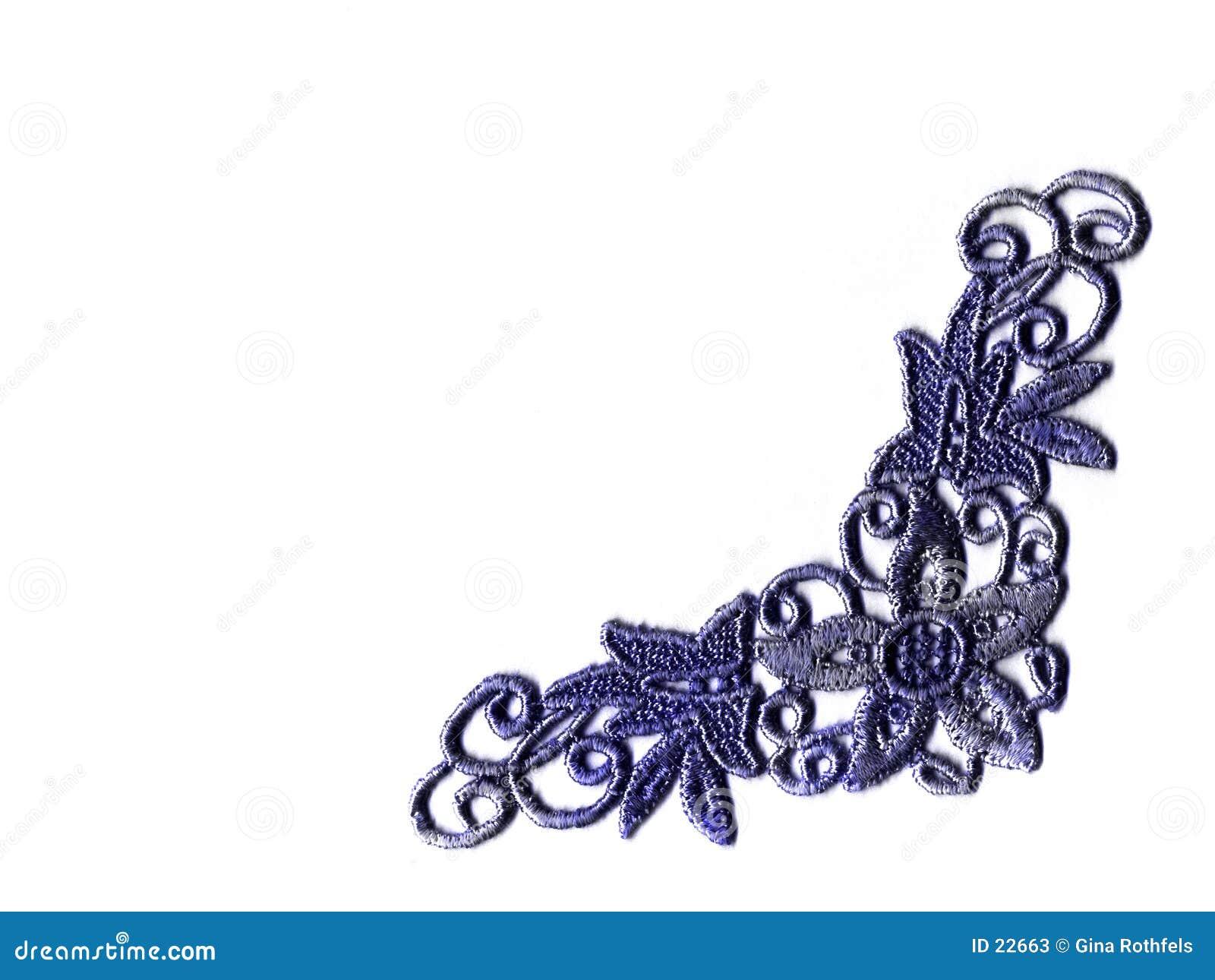 Niebieskie koronki