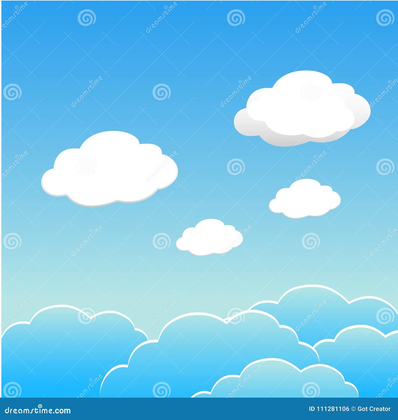 Niebieskie niebo z chmurami dzień Wektor ESP10