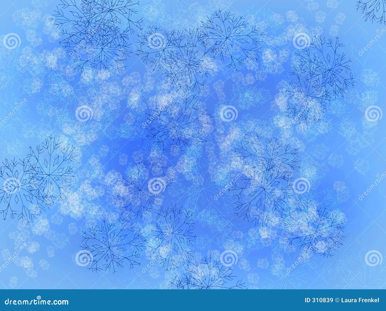 Niebieskie płatki śniegu