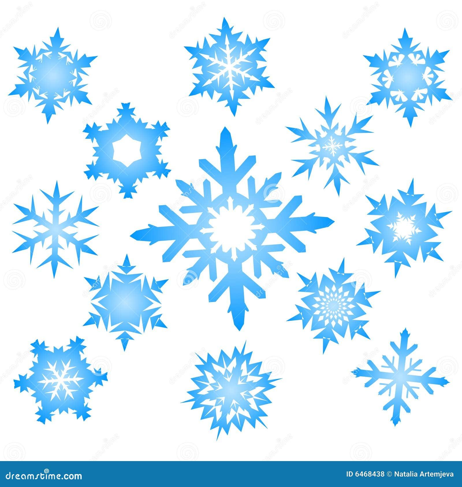 Niebieskie ustalonymi płatki śniegu