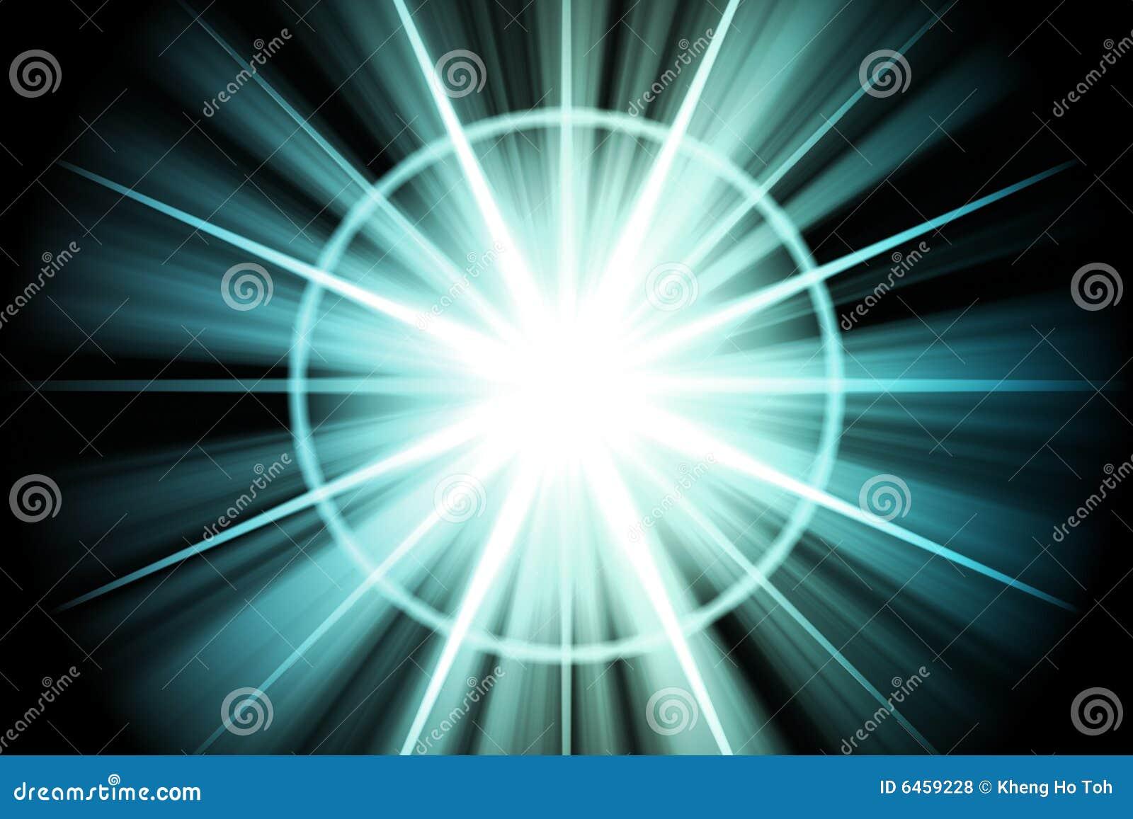 Niebieskiej gwiazdy sunburst abstrakcyjne