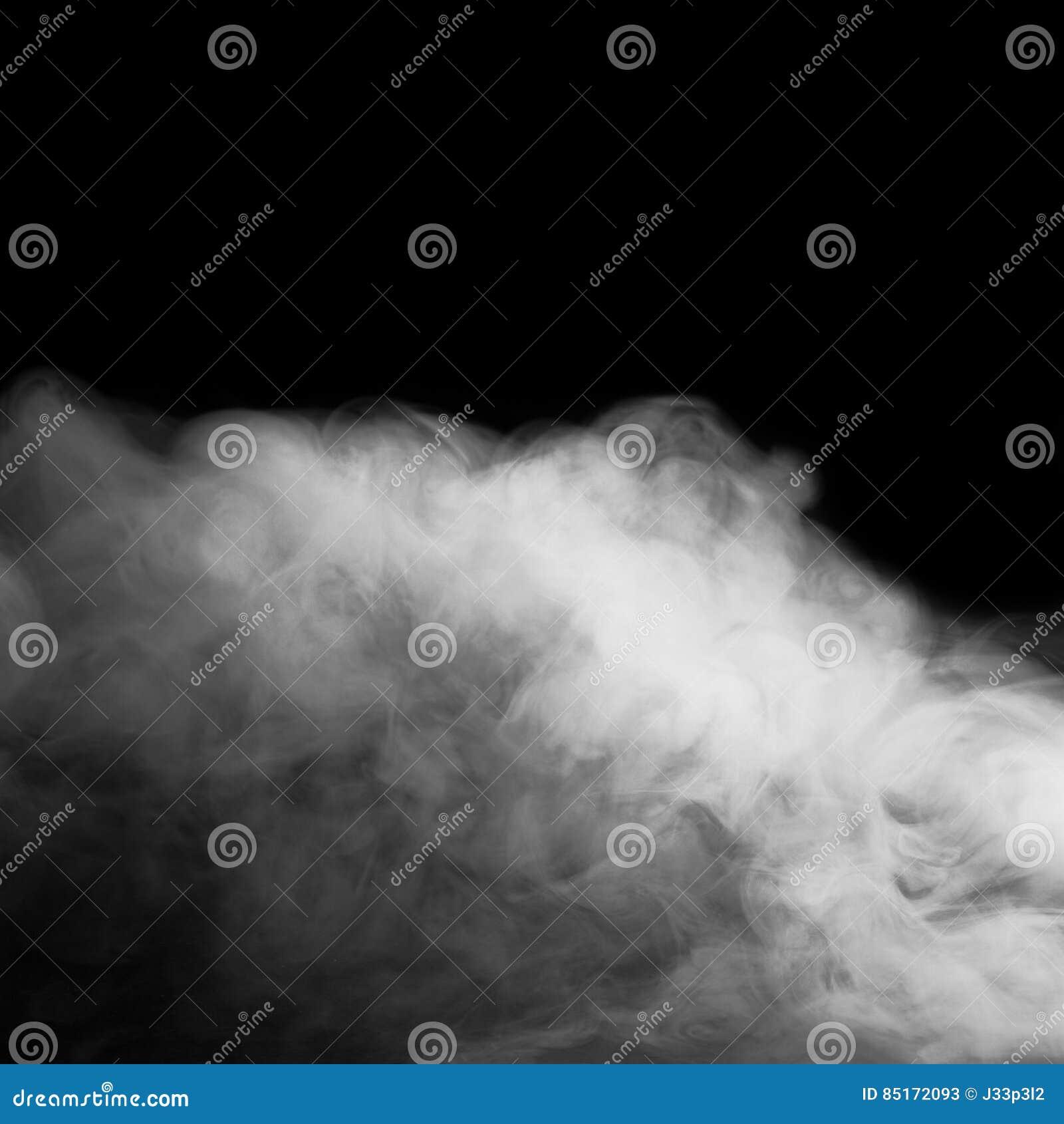 Niebla o humo abstracta en fondo negro