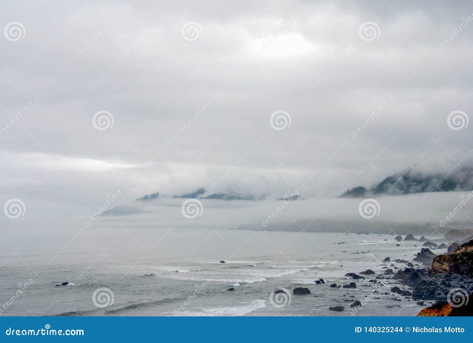Niebla perdida de la costa