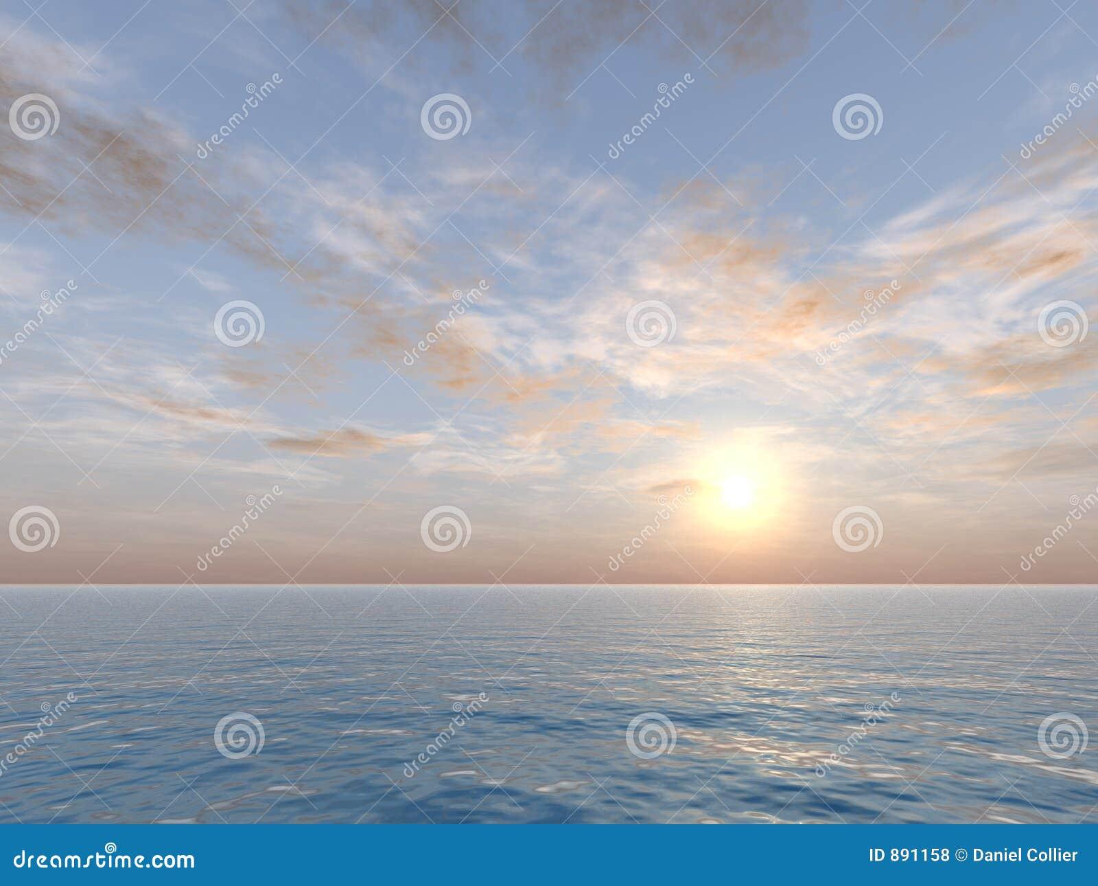 Niebo nad drogą morską wanilia
