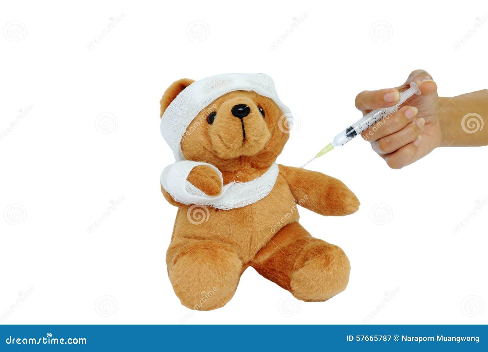 Niedźwiadkowa lala ono wstrzykuje