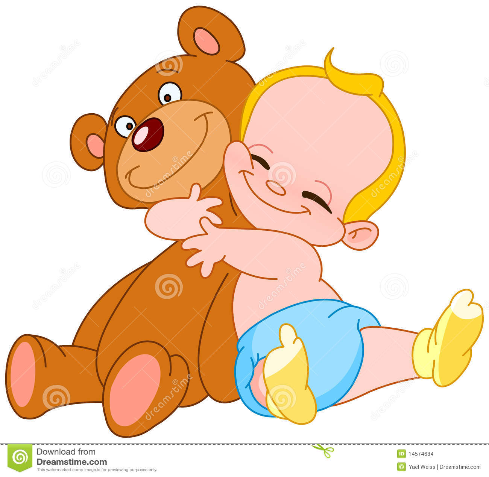 Niedźwiadkowy dziecka uściśnięcie