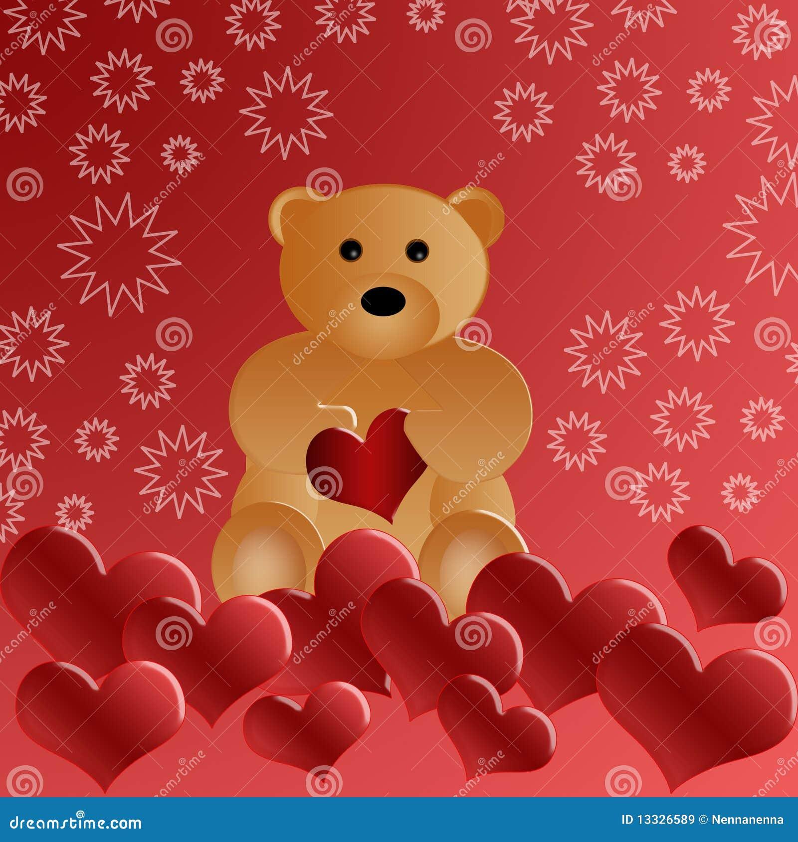 Niedźwiadkowy piękny kochający miś pluszowy