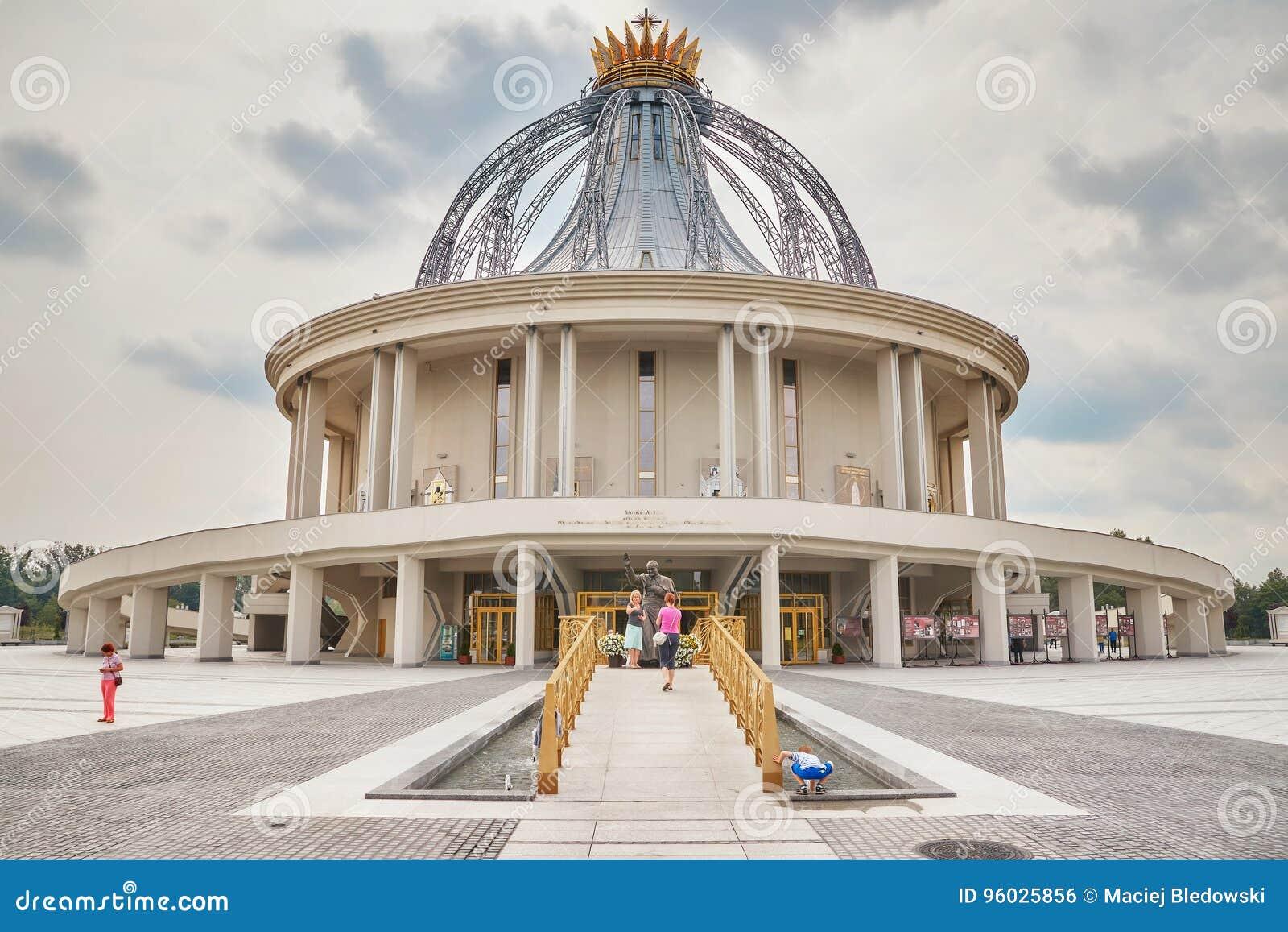 Niedawno budująca świątynia Nasz dama gwiazda Nowy Evangelization John Paul II i St
