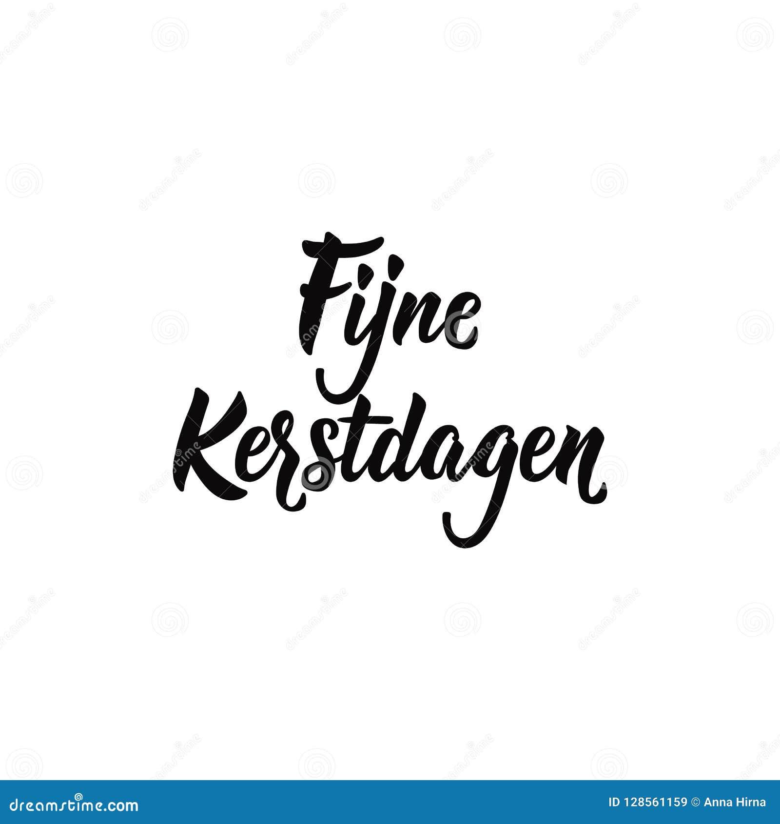 Frohe Weihnachten Und Ein Gutes Neues Jahr Holländisch.Niederländischer Text Frohe Weihnachten Beschriftung Fahne