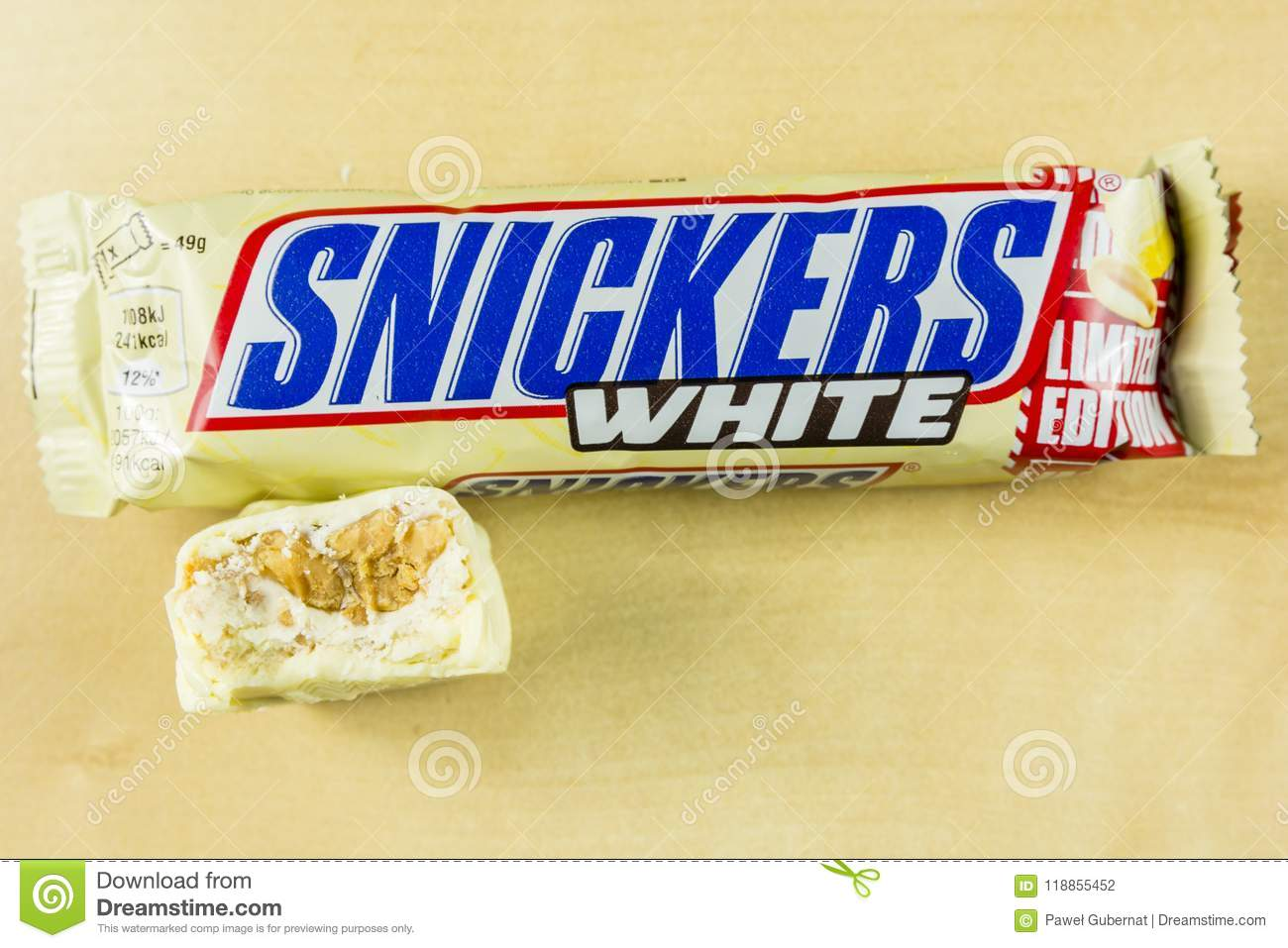 snickers white  Bitten Tasty Chocolate Bar In White Chocolate - Snickers White ...