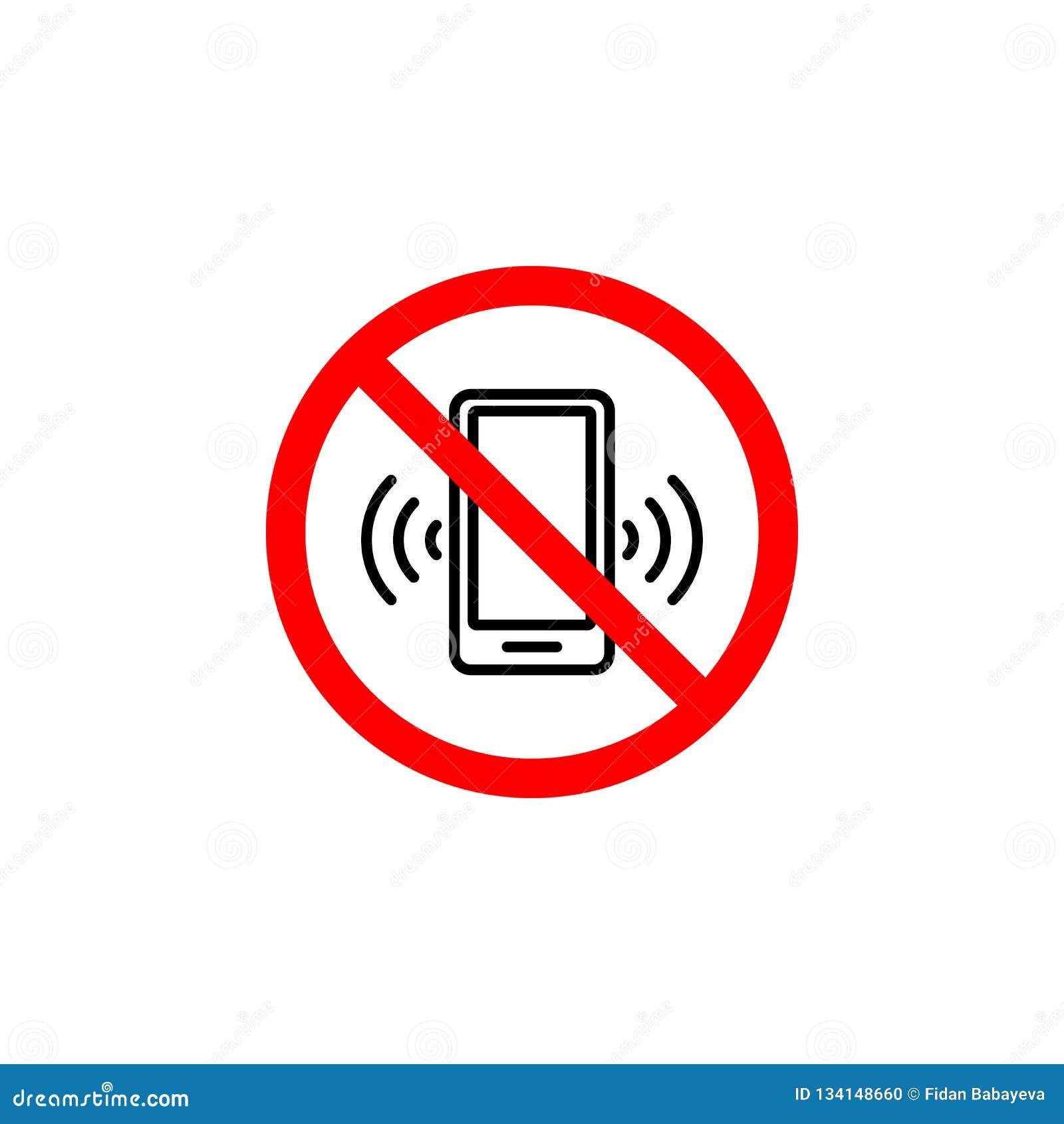 Niedozwolona rozmowy telefoniczej ikona może używać dla sieci, logo, mobilny app, UI UX