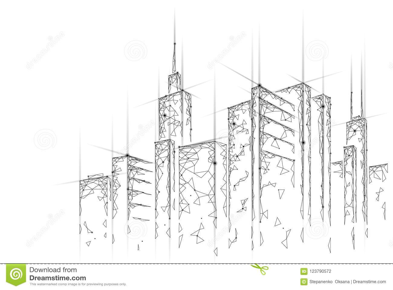 Niedriger intelligenter Polymaschendraht der Stadt 3D Intelligentes Gebäudeautomatisierungssystem-Geschäftskonzept Netzon-line-Co