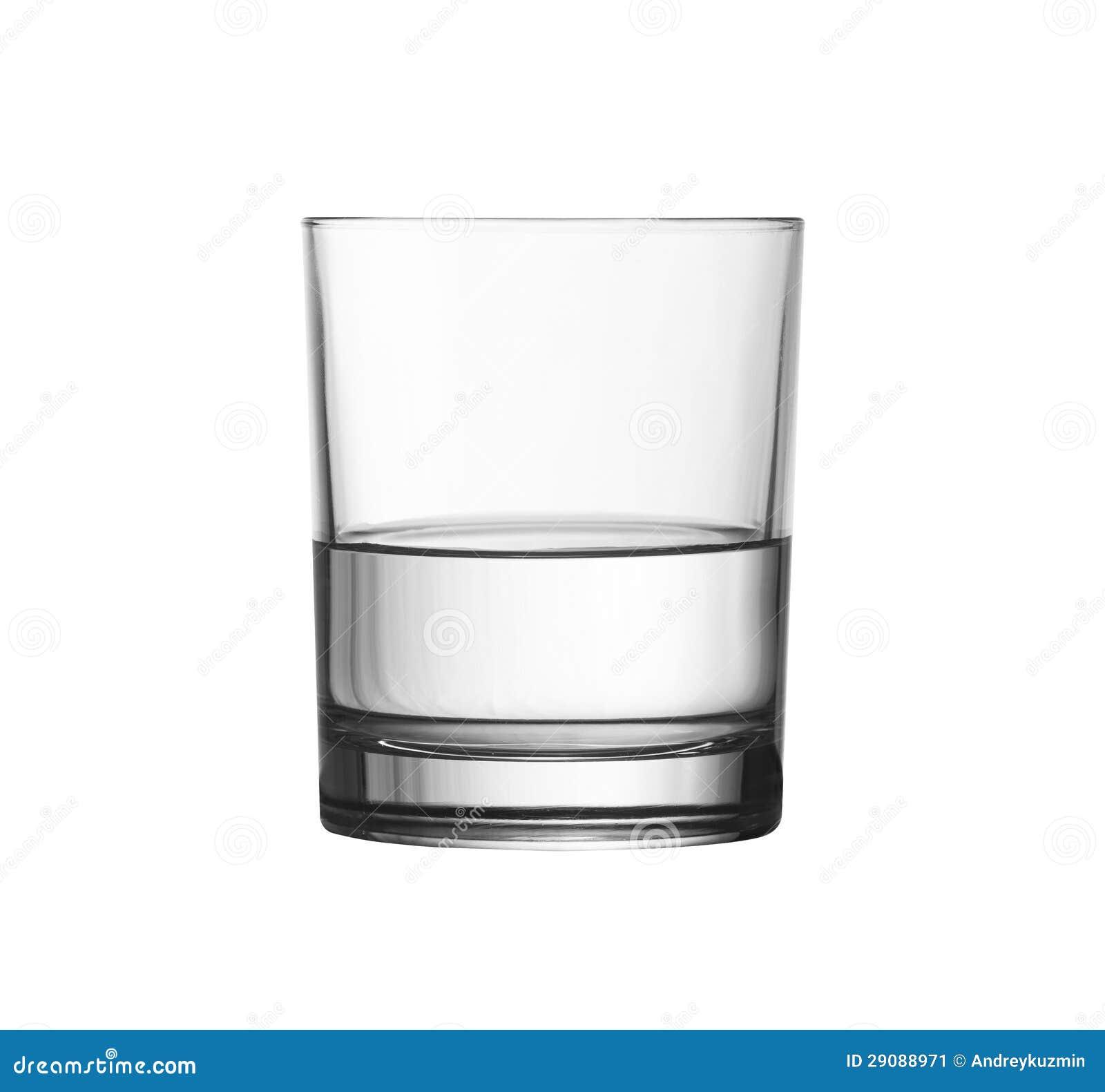Halb Voll Glas Niedriges Halb Volles Glas