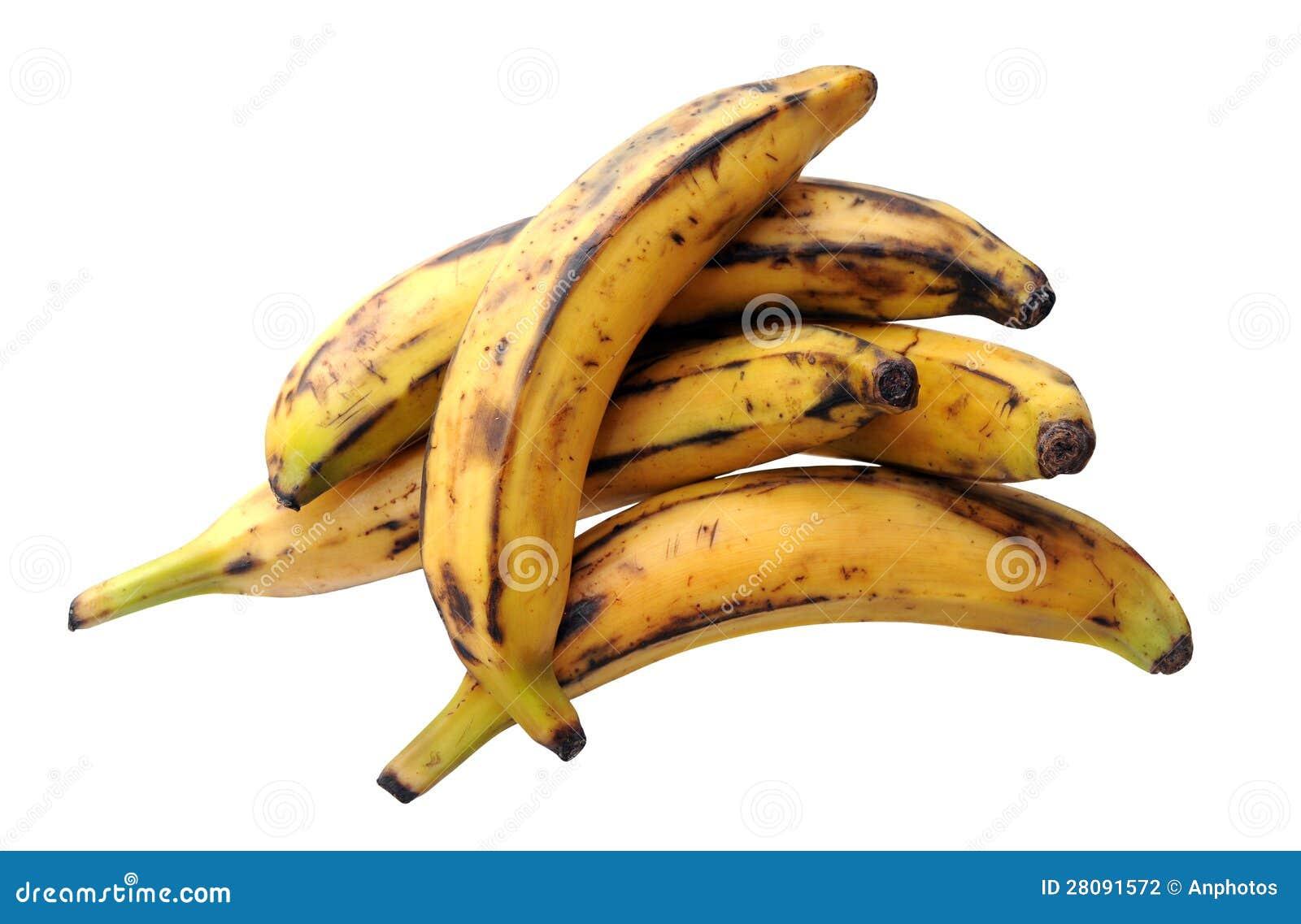 Niektóre dojrzały bananowy banan