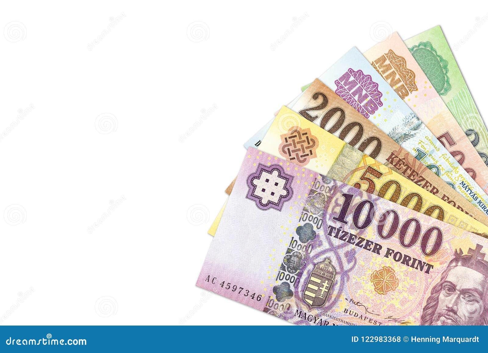 Niektóre hungarian forintów banknoty