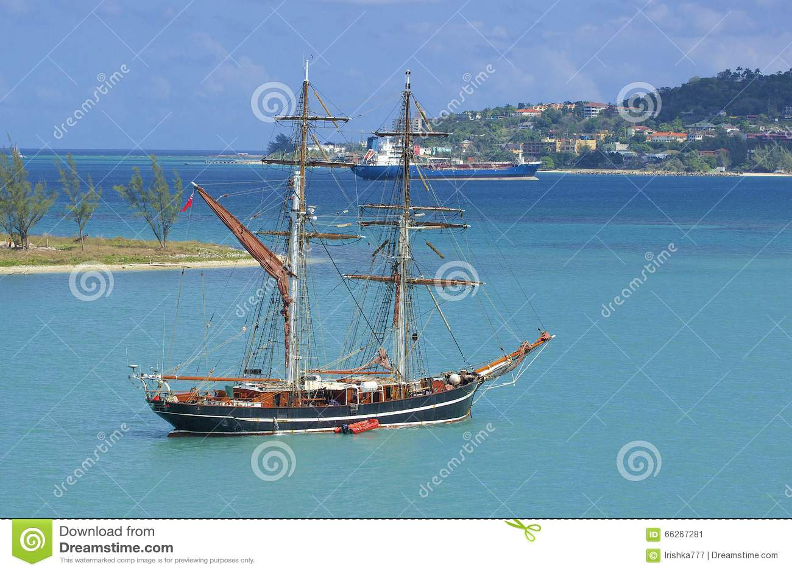 Nielegalnie kopiować łódź w Montego Bay w Jamajka, Karaiby